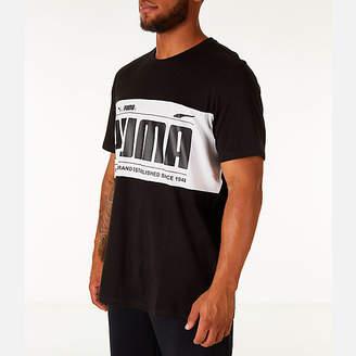 Puma Men's Graphic Logo Block T-Shirt