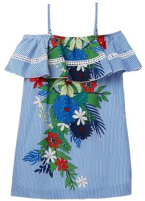 Truly Me Floral Print A-Line Dress (Big Girls)