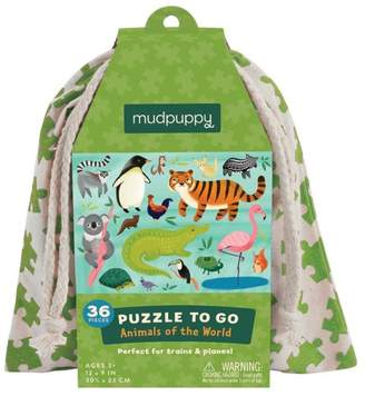 Mudpuppy Animals Puzzle-To-Go