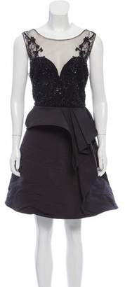 Marchesa Embellished Mini Dress