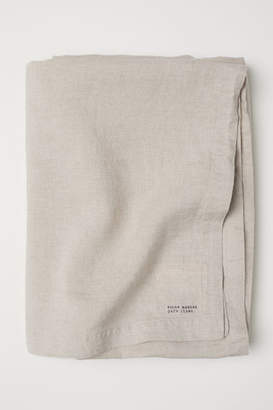 H&M Washed Linen Tablecloth - Beige