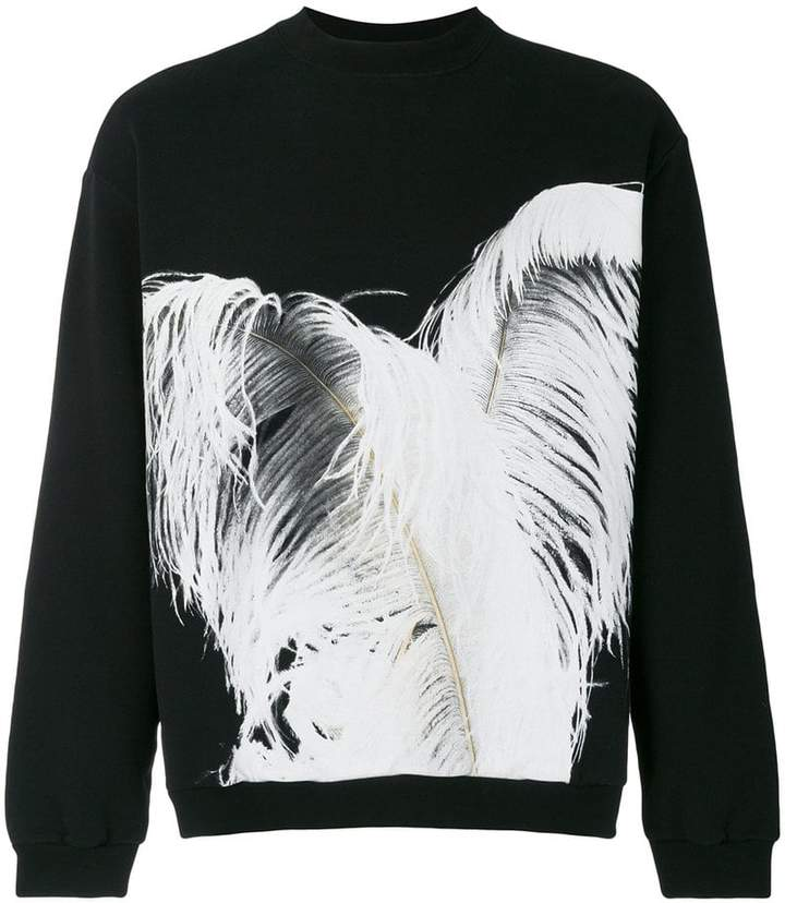 feather print sweatshirt