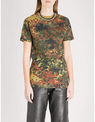 RAGYARD Camouflage-patterned cotton T-shirt