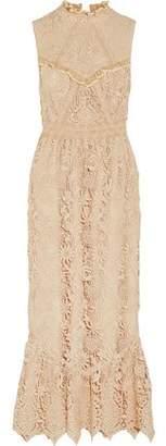 Anna Sui Romantique Ruffled Guipure Lace Maxi Dress