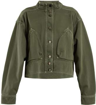 Valentino Patch-pocket denim cropped jacket