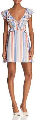 Red Carter Poppy Striped Mini Dress