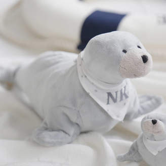 My 1st Years Monogrammed Grey Seal Soft Toy