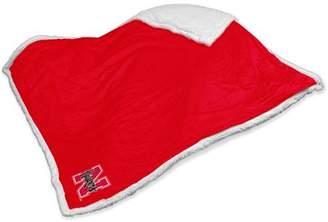 NCAA Logo Chair Nebraska Sherpa Blanket