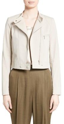 Women's Lafayette 148 New York Lisette Moto Jacket $498 thestylecure.com