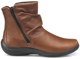 Hotter Dark Tan 'Whisper' Eee Ankle Boots