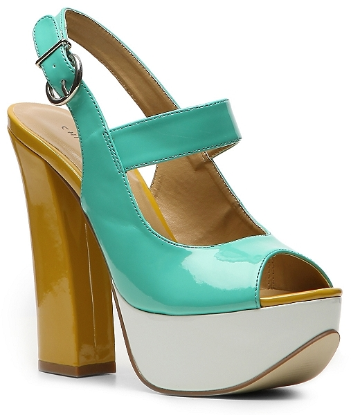Chinese Laundry Fearless Slingback - Teal Color Block