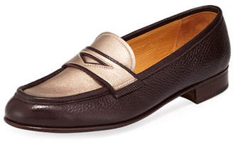 Gravati Leather Penny Loafer with Metallic Plug