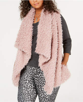 Say What Trendy Plus Size Fleece Vest