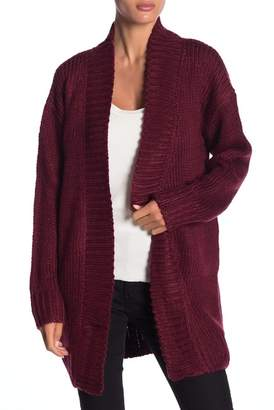 Honey Punch Solid Open Front Long Cardigan