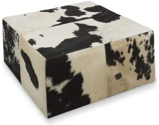 Home & Giftware Cowhide Coffee Table/ottoman