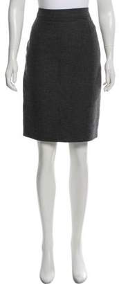 Lanvin Wool Pencil Skirt Grey Wool Pencil Skirt