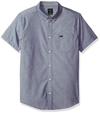 RVCA Men's Oxford Short Sleeve Button Down Shirt