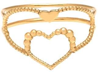 Assya Gold Heart Ring - Size K