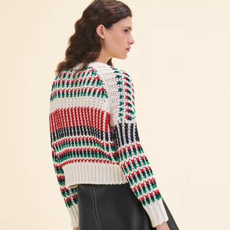 Maje Decorative multi-coloured knit jumper