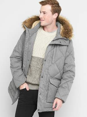 Diamond quilted parka