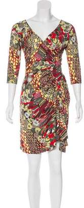Just Cavalli Abstract Print Knee-Lenght Dress w/ Tags