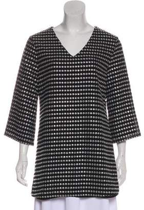 Michael Kors Embellished V-Neck Tunic