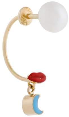 Delfina Delettrez 18kt gold Lips Piercing earring
