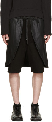D.Gnak by Kang.D Black Layered Shorts $280 thestylecure.com