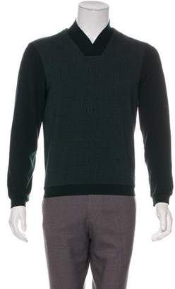 Armani Collezioni Printed V-Neck Sweater