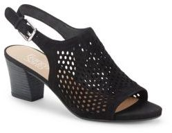 Monaco Perforated Slingback Sandals $109 thestylecure.com