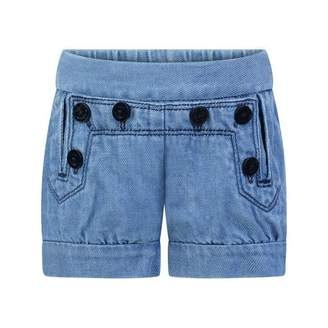 Chloé ChloeBaby Girls Blue Denim Sailor Shorts