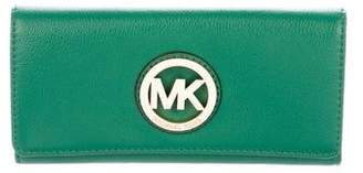 MICHAEL Michael Kors Grained Leather Continental Wallet