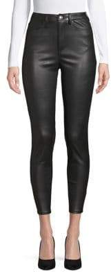 Free People Skinny Faux Leather Jeans