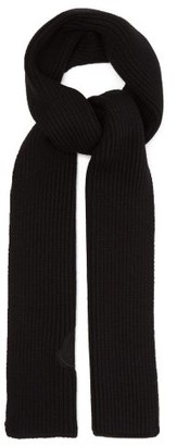 Moncler 2 1952 - Logo Applique Wool Scarf - Mens - Black