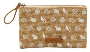 MANGO Printed jute purse