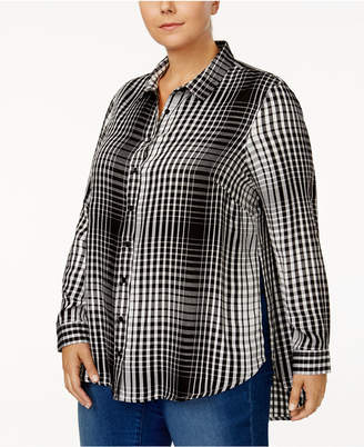 Melissa McCarthy Trendy Plus Size Split-Side Shirt