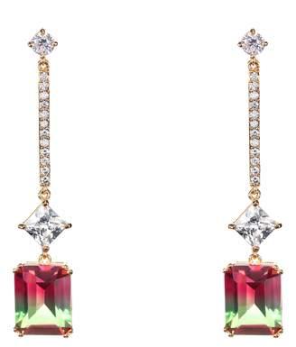 Nina Deco Linear Drop Earrings