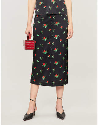 BERNADETTE June stretch-silk skirt