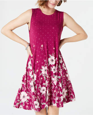 Style&Co. Style & Co Printed Trapeze Dress
