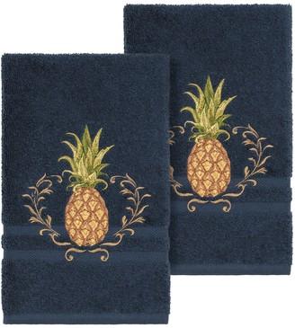 Linum Home Textiles Turkish Cotton Welcome Embellished Hand Towel Set