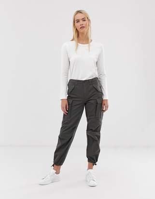 Asos Design Cargo Pants In Khaki