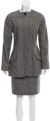 Geoffrey Beene Tweed Knee-Length Skirt Set