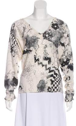 Galliano Sequined Wool Sweater