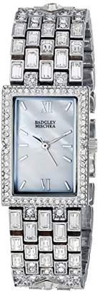 Badgley Mischka Women's BA/1369MPSV Swarovski Crystal Accented -Tone Bracelet Watch