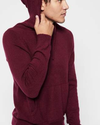 7 For All Mankind Pullover Sweater Hoodie in Port Wine
