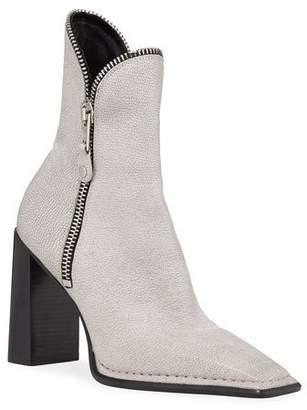 817c1ee1b4d Alexander Wang Lane Block-Heel Leather Zip Booties