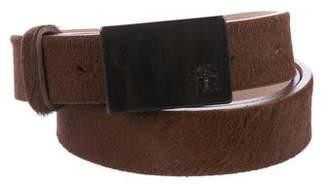 Brunello Cucinelli Ponyhair Buckle Belt