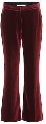 Stella McCartney Velvet cropped trousers