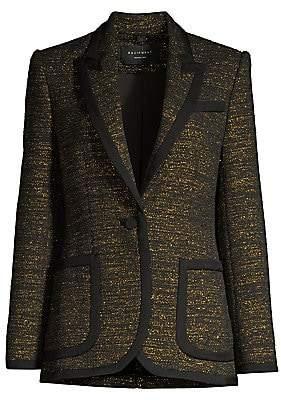 Equipment Women's Bodanne Metallic Tweed Blazer