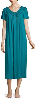 Asstd National Brand Miss Elaine Short Sleeve Long Gown